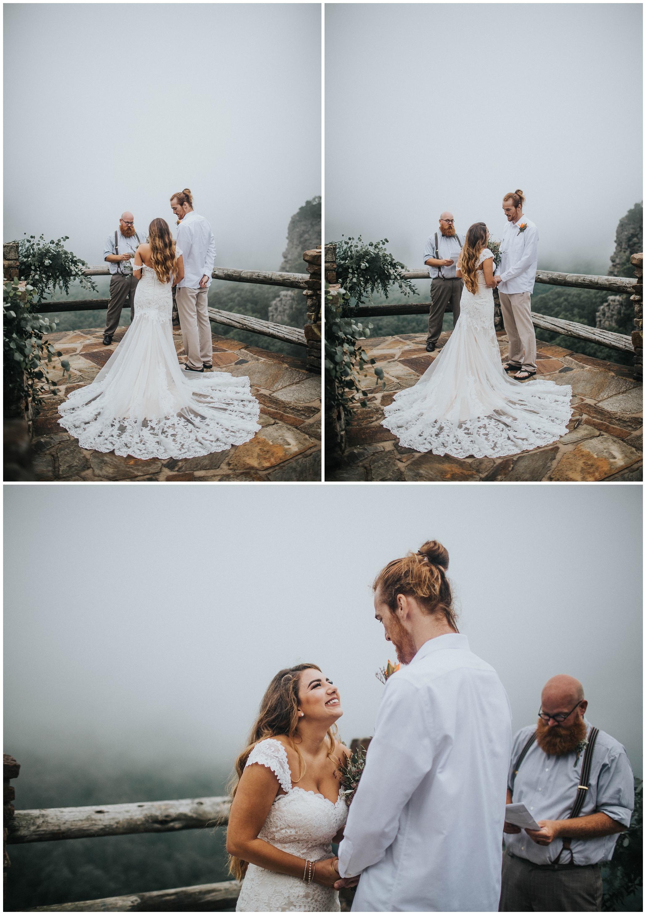 The Johnsons Photo Foggy Mount Magazine Arkansas Wedding Ceremony