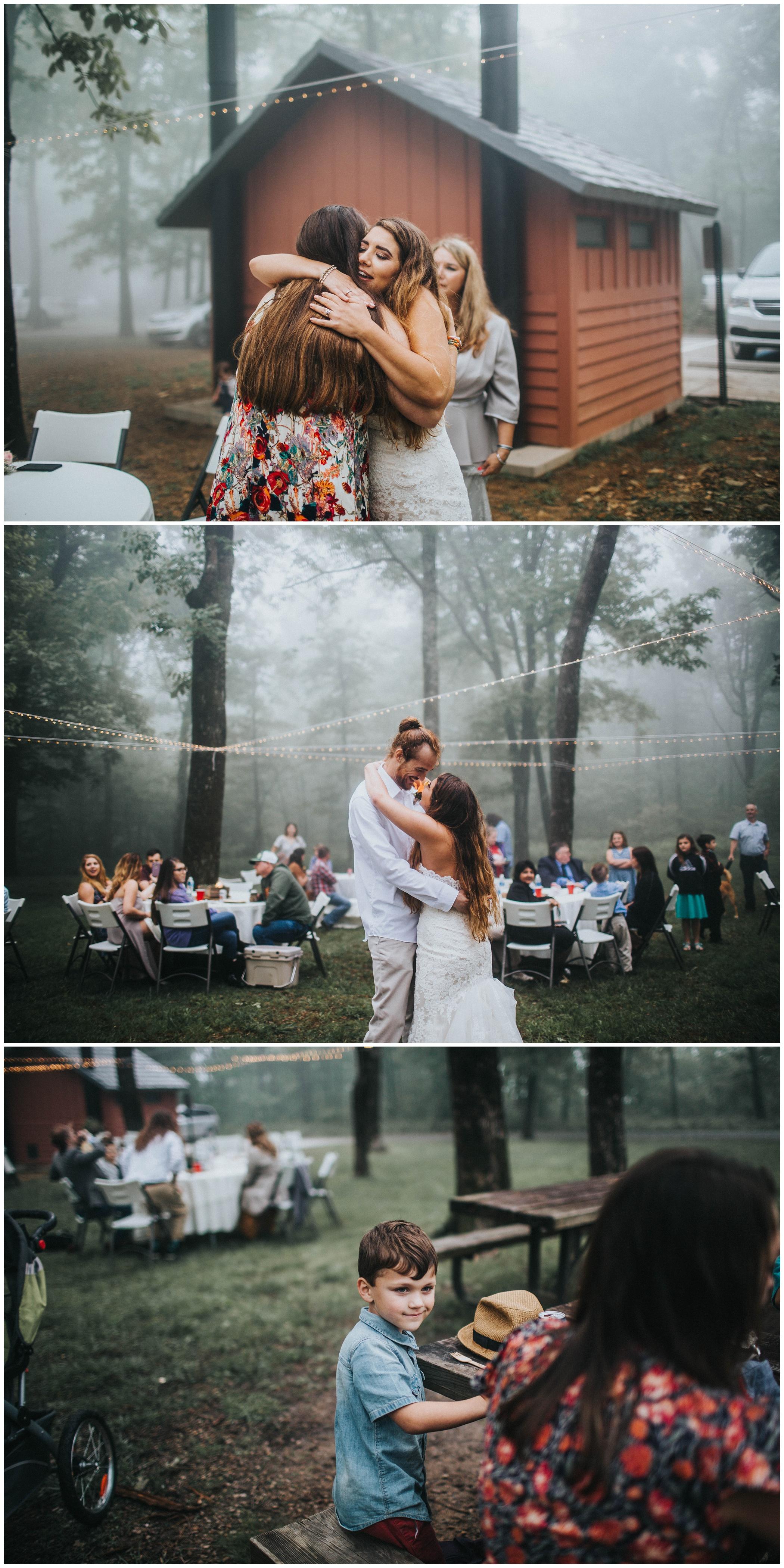 The Johnsons Photo Foggy Mount Magazine Arkansas Wedding Moody Reception Details