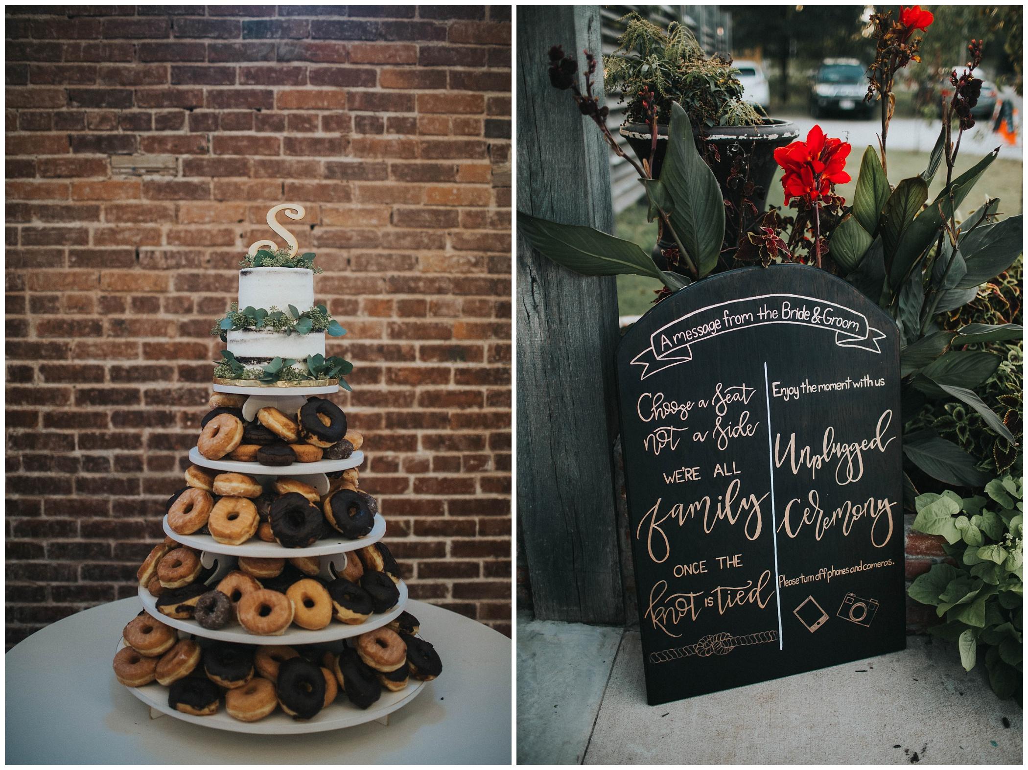ravington, donut, cake, the, ravington, centerson, northwest, arkansas, johnsons, photo, wedding, photography