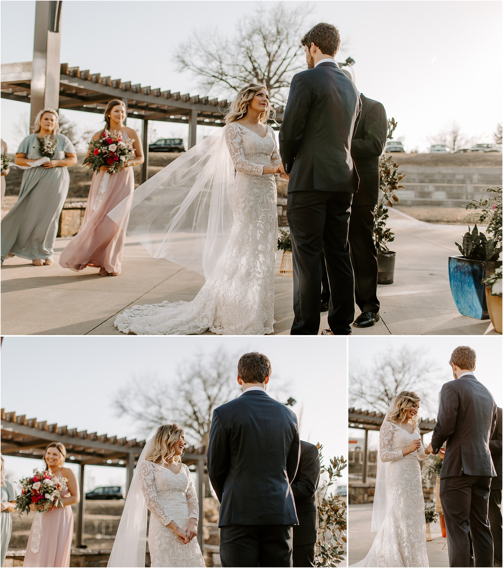 los ángeles wedding, Los Angeles wedding photographer, pastel bridesmaids, mountaintop wedding,